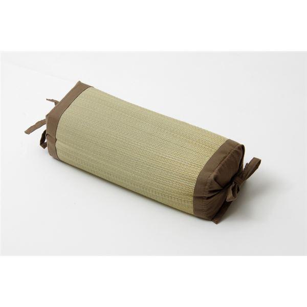 枕 まくら い草枕 消臭 ピロー 国産 無地 高さ調整 『モデル 角枕』 ブラウン 約30×15cm【代引不可】
