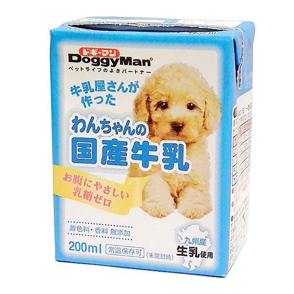 (まとめ)ドギーマンハヤシ わんちゃんの国産牛乳 200ml 〔犬用・フード〕〔ペット用品〕〔×24セット〕【代引不可】