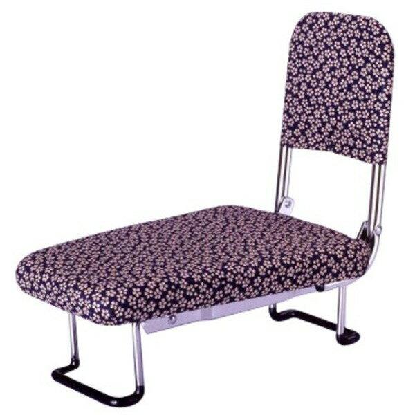 背もたれ付きらく座いす(正座椅子) 小花柄【代引不可】