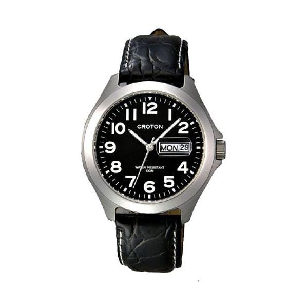 CROTON(クロトン) 腕時計 3針 デイデイト 10気圧防水 RT-144M-1【代引不可】