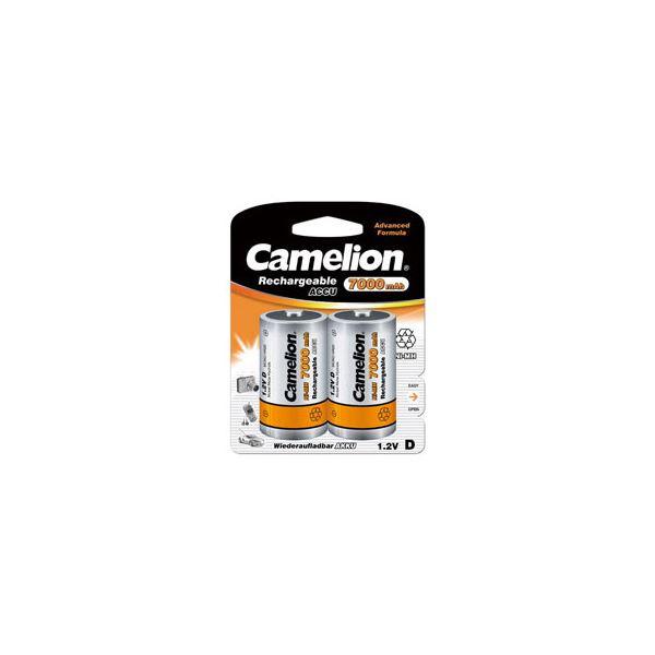(まとめ)Camelion 7000mAh単1形ニッケル水素充電池 2本パック NH-D7000BP2〔×2セット〕【代引不可】