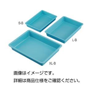 (まとめ)プラスチックバット(ブルー)L-B〔×5セット〕【代引不可】