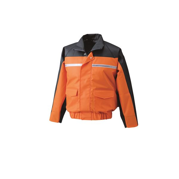 【送料無料】ナダレス空調服ブルゾン リチウムバッテリーセット BR-500NC30S6 オレンジ 4L【代引不可】