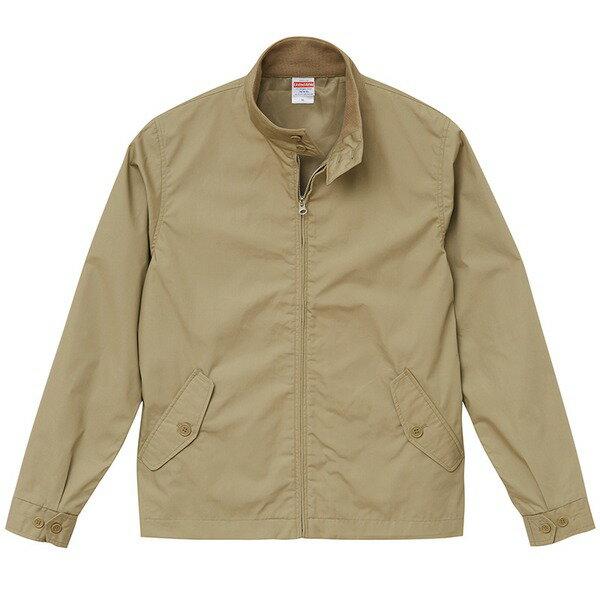 テカリを抑えた綿混・撥水加工、防風加工、裏地付スウィンブトップジャケット ベージュ XL【代引不可】
