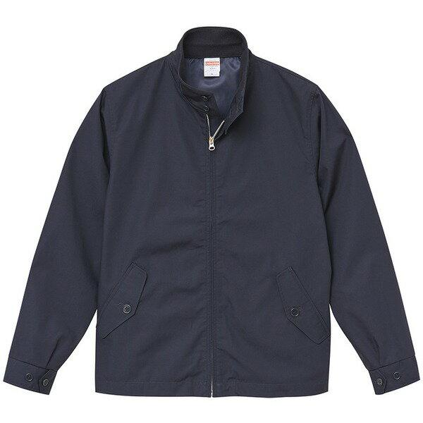 テカリを抑えた綿混・撥水加工、防風加工、裏地付スウィンブトップジャケット ネイビー XL【代引不可】