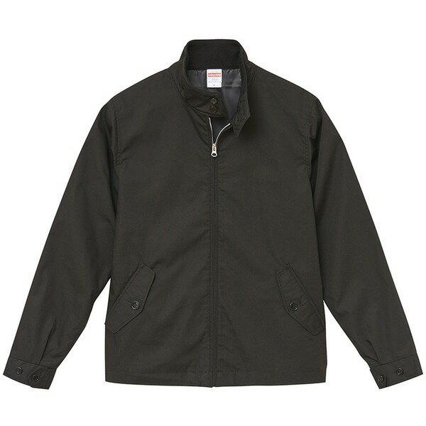 テカリを抑えた綿混・撥水加工、防風加工、裏地付スウィンブトップジャケット ブラック L【代引不可】