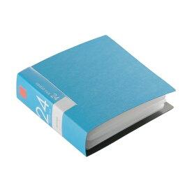 (まとめ) バッファローCD&DVDファイルケース ブックタイプ 24枚収納 ブルー BSCD01F24BL 1個 〔×30セット〕【代引不可】
