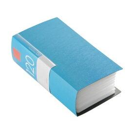 (まとめ) バッファローCD&DVDファイルケース ブックタイプ 120枚収納 ブルー BSCD01F120BL 1個 〔×10セット〕【代引不可】