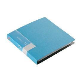 (まとめ) バッファローCD&DVDファイルケース ブックタイプ 12枚収納 ブルー BSCD01F12BL 1個 〔×50セット〕【代引不可】