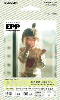 에레콤 사진 용지 효과 포토 페이퍼 레트르 L판 100장 EJK-EFRTL100