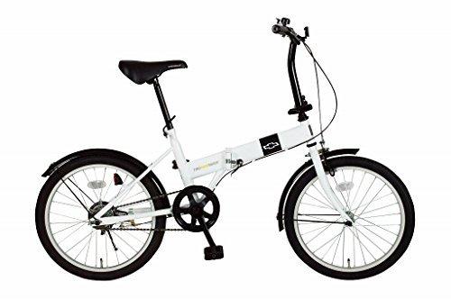 【送料無料】CHEVROLET 折りたたみ自転車 FDB20R ホワイト MG-CV20R【代引不可】