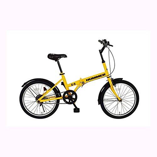 【送料無料】HUMMER 折りたたみ自転車 FDB20R イエロー MG-HM20R【代引不可】