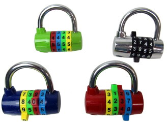 Large character easy to unlock and lock! 4-digit dial lock CR-206 color leave you