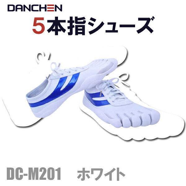 【送料無料】DANCHEN 5本指シューズ DC-M201 ホワイト【あす楽対応】