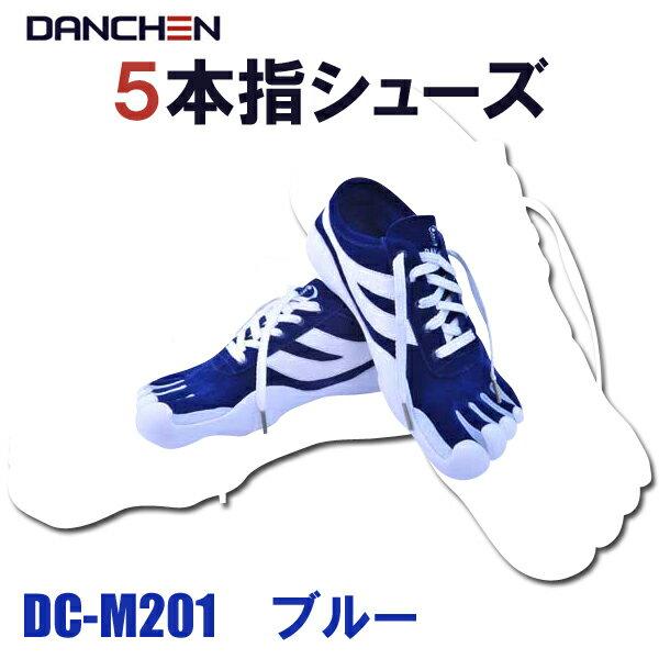 【送料無料】DANCHEN 5本指シューズ DC-M201 ブルー【あす楽対応】