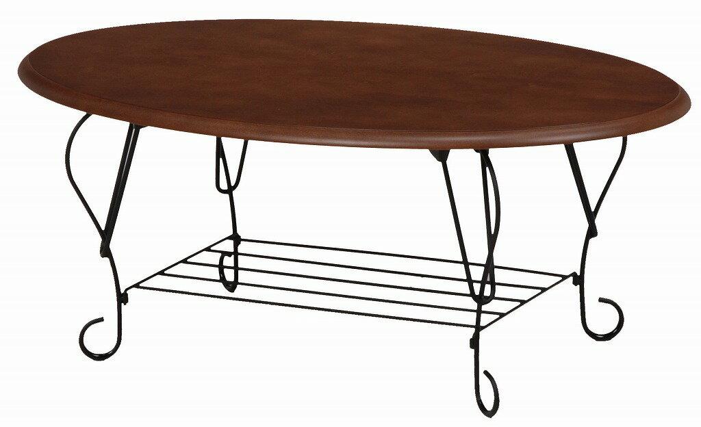 折れ脚テーブル KT-3884BR【代引不可】