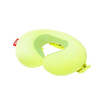 装上有OGK技研脑袋休息的小孩事情颈枕头(空气式靠垫)NEP-001黄绿色