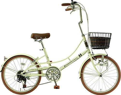 【送料無料】メーカー正規品 リサとガスパール 20インチ小径自転車 シティサイクル シマノ6段変速ギア Gaspard et Lisa エレガントパール【代引不可】