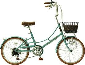 【送料無料】メーカー正規品 リサとガスパール 20インチ小径自転車 シティサイクル シマノ6段変速ギア Gaspard et Lisa ノスタルジックブルー【代引不可】