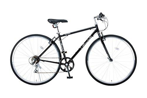 【送料無料】Raychell(レイチェル) 700Cクロスバイク シマノ7段変速 フロントライト標準装備 CR-7007R [メーカー保証1年] ブラック 35652【代引不可】