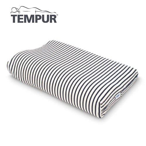 テンピュール スムースカバー 白×紺 オリジナルネックピロー&ミレニアムネックピローXS?L用【代引不可】