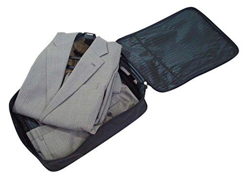 [出張・旅行のスーツ収納に] コンパクト ガーメントケース (ハンガー&ズボン巻き付けボード付き)【代引不可】