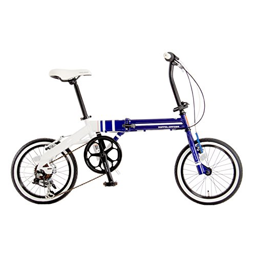 【送料無料】DOPPELGANGER(ドッペルギャンガー) コンパクトフォールディングバイク 16インチ折りたたみ自転車 シマノ6段変速 ミニマルフォールディングデザイン採用 FALTRADシリーズ URBAN FLAMINGO 105 ブルー【代引不可】