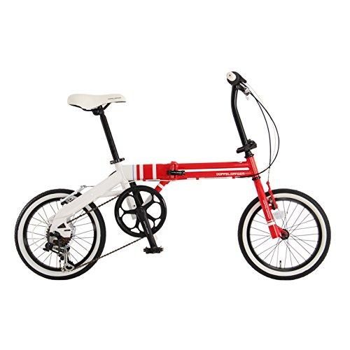 【送料無料】DOPPELGANGER(ドッペルギャンガー) コンパクトフォールディングバイク 16インチ折りたたみ自転車 シマノ6段変速 ミニマルフォールディングデザイン採用 FALTRADシリーズ URBAN FLAMINGO 106 レッド【代引不可】