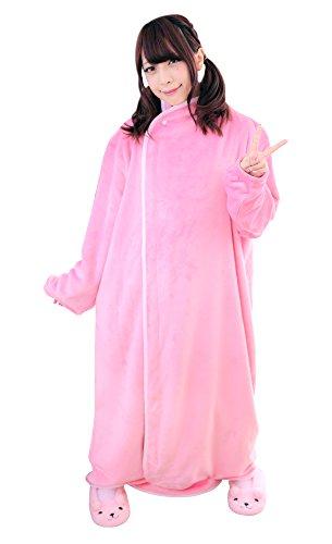 BIBILAB (ビビラボ) はだけない着る毛布 ピンク Mサイズ 2018モデル HFM-M-PK-18
