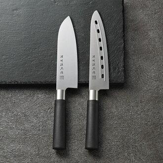 [礼物]浓州孙子6部菜菜刀2分安排(日式圆花纹)日本制造40WAH
