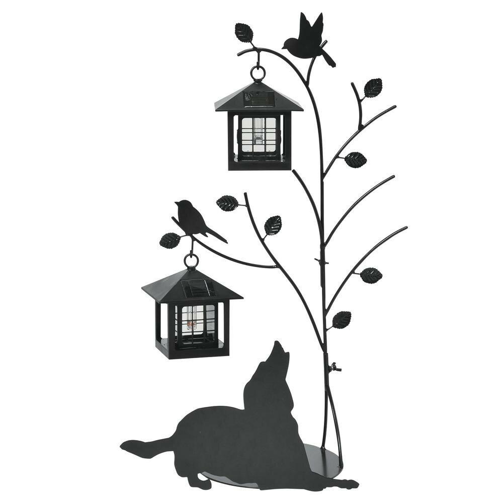 【送料無料】セトクラフト シルエットソーラー(Tree&Dog)2灯 SI-1955-1300【代引不可】