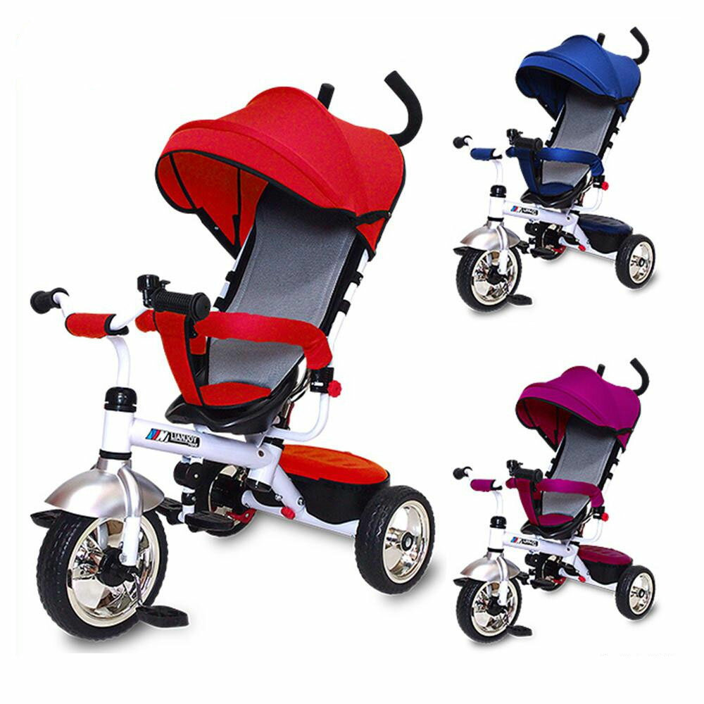 JTC(ジェーティーシー) ベビー用品 3 in 1 Tricycle かじとり三輪車 レッド・J-5149【代引不可】