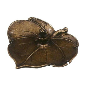高岡銅器 銅製香立 和雲作 香立 ぶどうに蛙 小 136-05 【代引不可】【北海道・沖縄・離島配送不可】