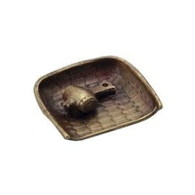 高岡銅器 銅製香立 和雲作 香立 箕に小槌 136-07 【代引不可】【北海道・沖縄・離島配送不可】