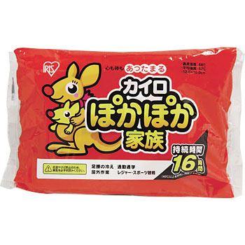 アイリスオーヤマ ぽかぽか家族 貼れないカイロ レギュラーサイズ 10個入 PKN-10R