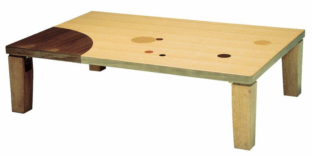【送料無料】日本製 讃岐の和座 座卓 アース 角 サイズ 120 天板表面材 ナラ象嵌入り TA15-169 国産品【代引不可】