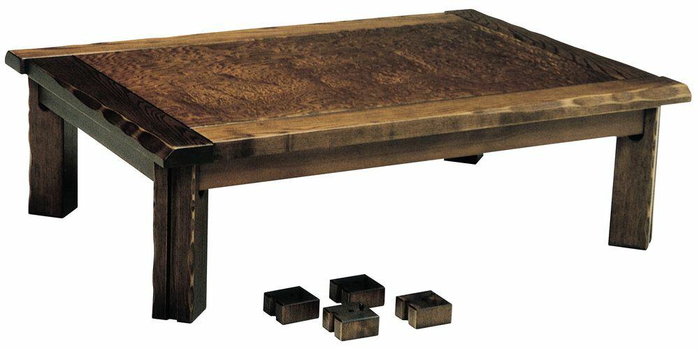 【送料無料】日本製 讃岐の和座 家具調こたつ かすみ サイズ 90 天板表面材 タモ玉杢 継脚付 国産品【代引不可】