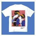 FJK 日本 お土産 Tシャツ 浮世絵 (ホワイト)No.18