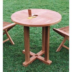 ジャービス商事 ガーデンテーブル 天然木無垢材 丸テーブル0808 20705 木製【代引不可】【北海道・沖縄・離島配送不可】