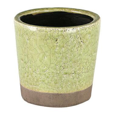ダルトン 鉢 カラー グレーズド ポット COLOR GLAZED POT LIME GREEN CH14-G516LGN【代引不可】