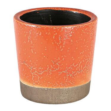 ダルトン 鉢 カラー グレーズド ポット COLOR GLAZED POT ORANGE CH14-G516OR【代引不可】