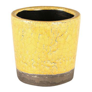 ダルトン 鉢 カラー グレーズド ポット COLOR GLAZED POT YELLOW CH14-G516YL【代引不可】