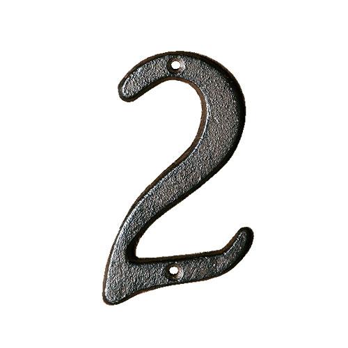 ダルトン アイアン ナンバーサイン 数字 IRON NUMBER 2 RUSTED IN-2【代引不可】