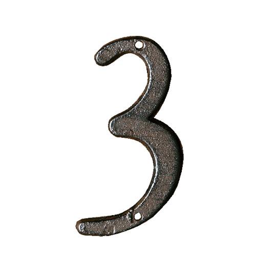 ダルトン アイアン ナンバーサイン 数字 IRON NUMBER 3 RUSTED IN-3【代引不可】