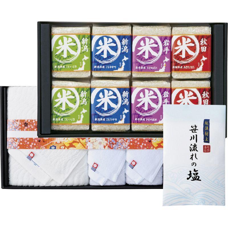 〔ギフト〕初代 田蔵 特別厳選 本格食べくらべお米・今治産タオルギフトセット NNIA-10000 【代引不可】