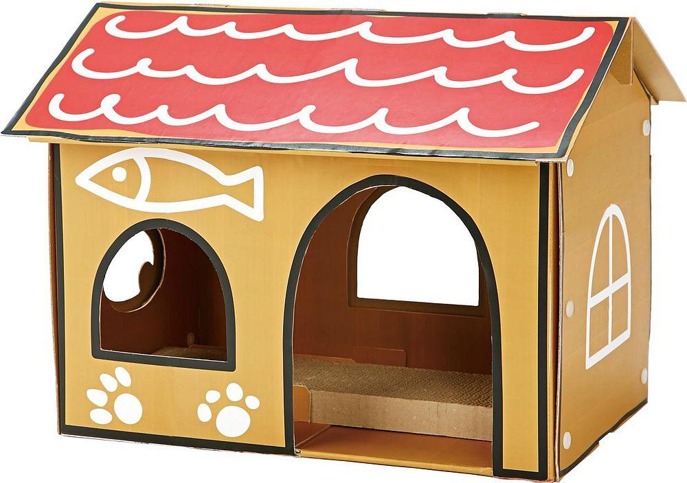 ペティオ 猫用おもちゃ ねこあつめ ハウスデラックス 紙製ハウス【代引不可】