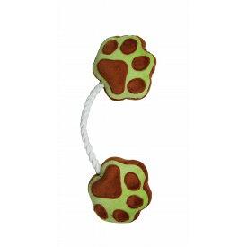 ペットプロ 愛犬用おもちゃ 足型ひっぱりロープ ベージュ【代引不可】