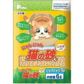 第一衛材 P.one にゃんにゃん 猫の砂 ひのき入り ビッグパック 6L【代引不可】