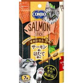 (まとめ買い)日本ペットフード コンボ キャット サーモンスティック ほたて添え 7本 猫用 〔×24〕【代引不可】
