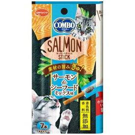 (まとめ買い)日本ペットフード コンボ キャット サーモンスティック シーフードミックス味 7本 猫用 〔×24〕【代引不可】